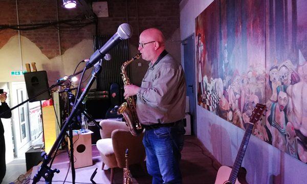 Guenter Denkler am Saxophon